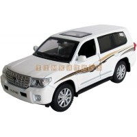 Модель автомобиля TOYOTA LAND CRUISER 200 со звуком и светом, 1:32
